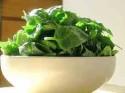 Čerstvý špenát ze zahrady